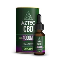 4位:AZTEC CBD Oil Drops / 4000mg